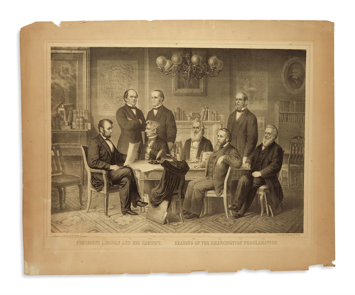 (PRINTS--EMANCIPATION)-Herline-Edward-President-Lincoln-and-