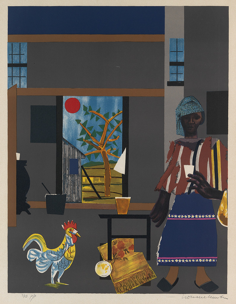 ROMARE BEARDEN (1911 - 1988) Morning of the Rooster.