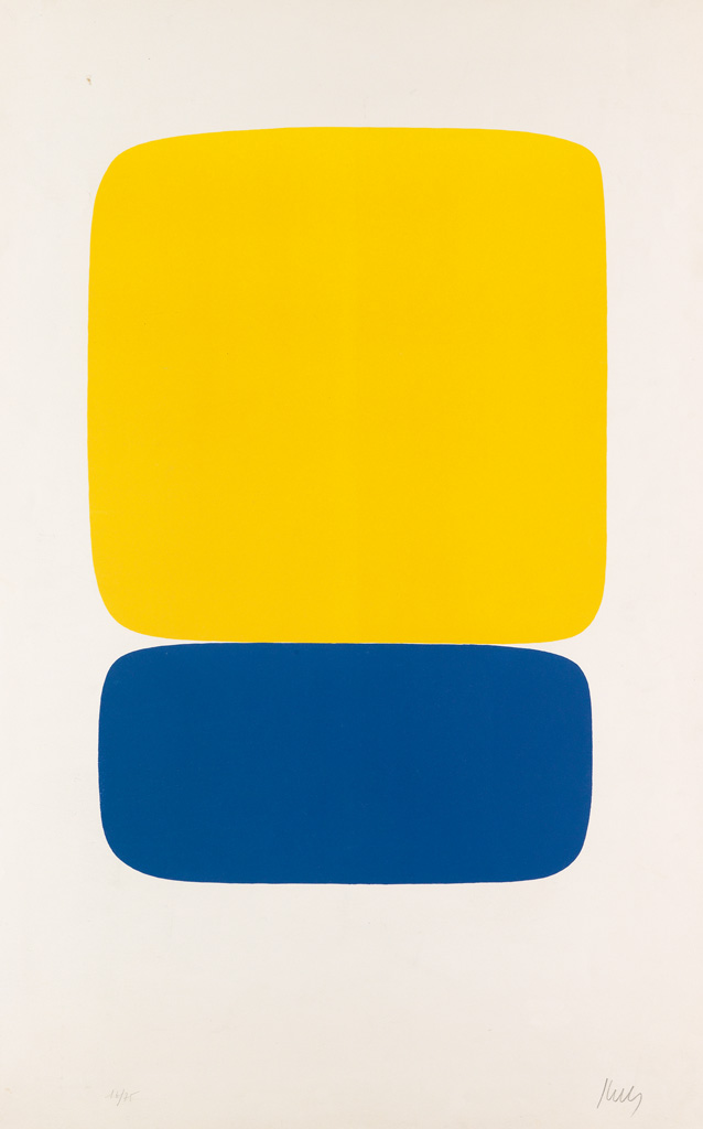ELLSWORTH KELLY Yellow over Dark Blue.