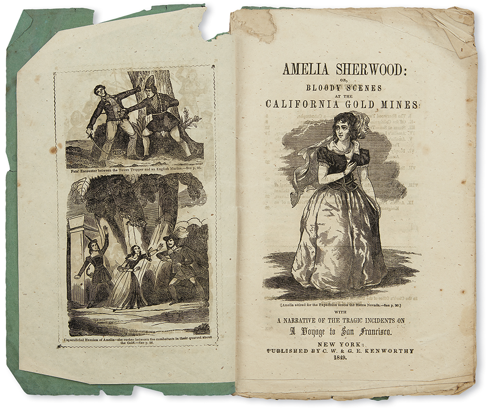 (CALIFORNIA.) Amelia Sherwood; or, Bloody Scenes at the California Gold Mines.