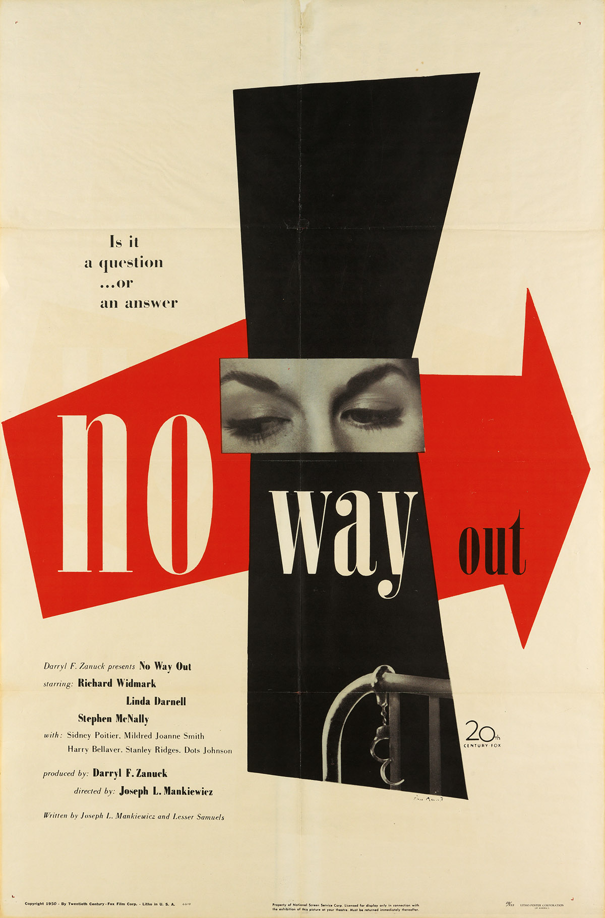 PAUL-RAND-(1914-1996)-NO-WAY-OUT-1950-41x27-inches-104x68-cm