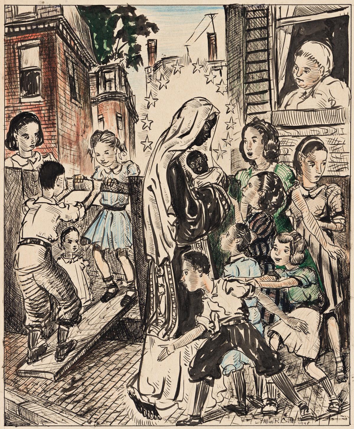 ALLAN ROHAN CRITE (1910 - 2007) Our Lady of the Neighborhood.