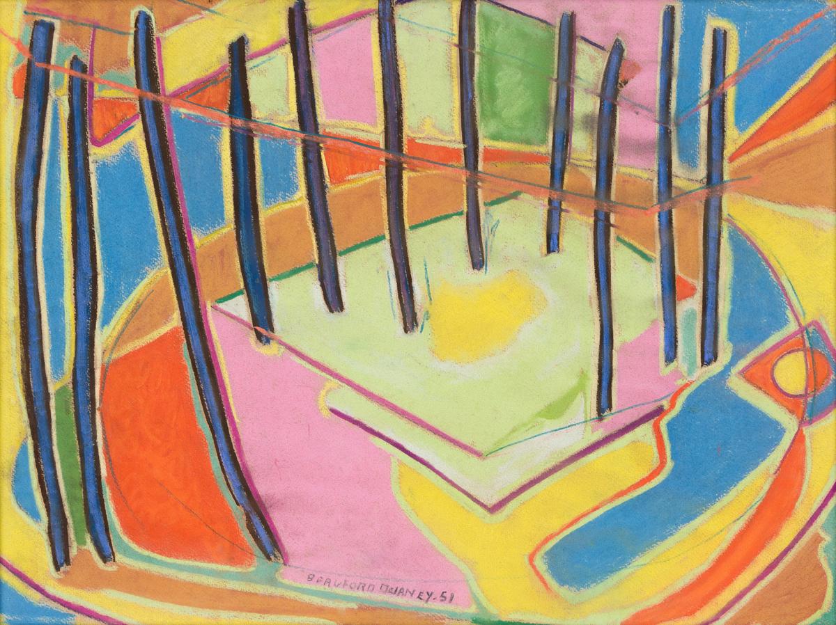 BEAUFORD DELANEY (1901 - 1979) Untitled (Tent Interior).