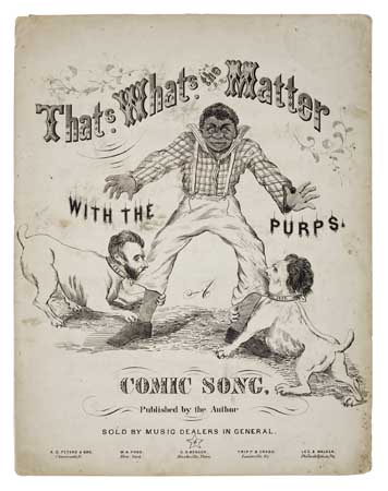 (SLAVERY AND ABOLITION--LINCOLN, ABRAHAM.) That's What's the Matter With the Purps A Comic Song (cover title);