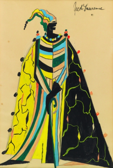 JACOB LAWRENCE (1917 - 2000) Artists and Models Ball, #3.