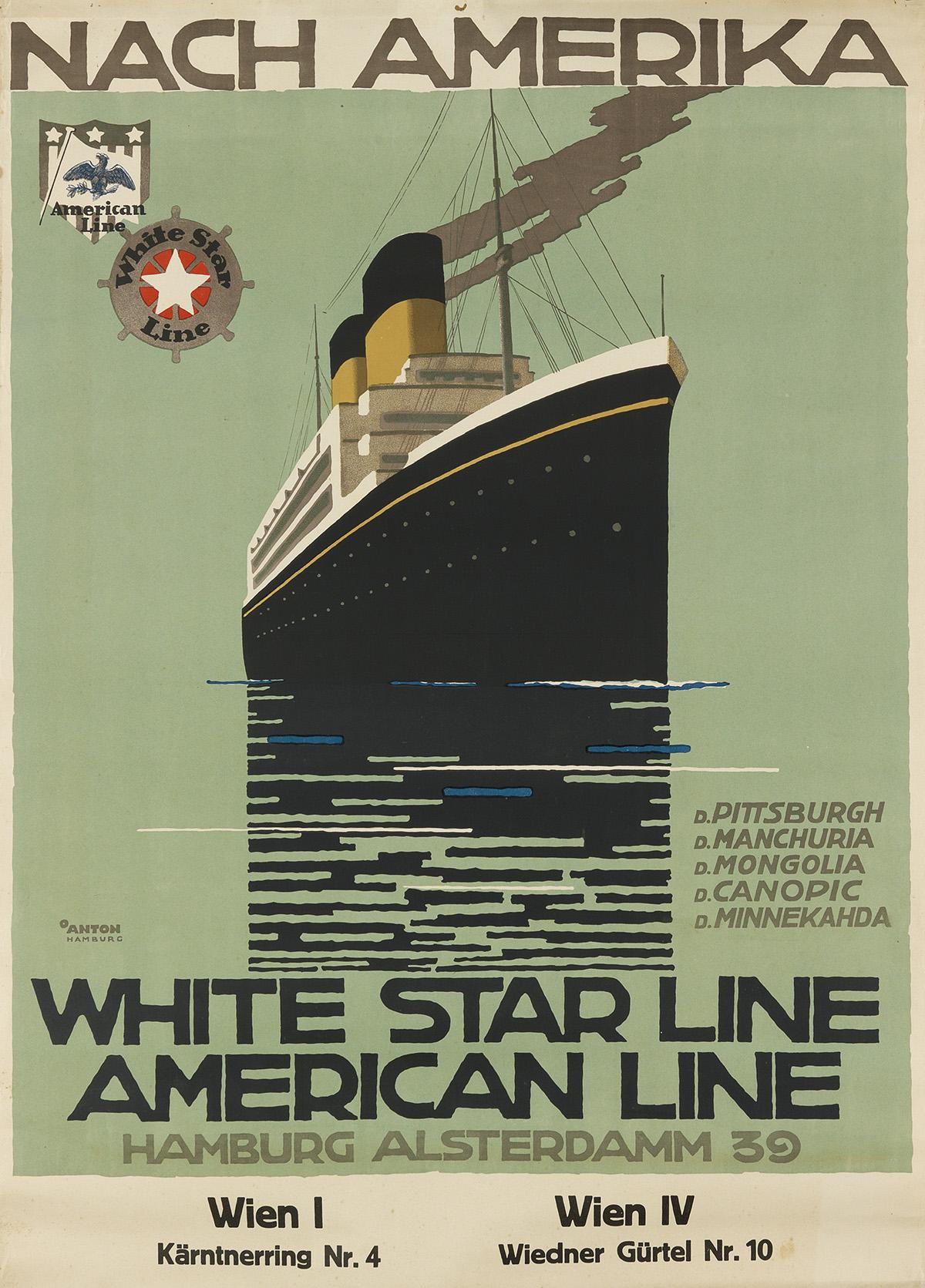 OTTOMAR-ANTON-(1895-1976)-NACH-AMERIKA--WHITE-STAR-LINE--AME