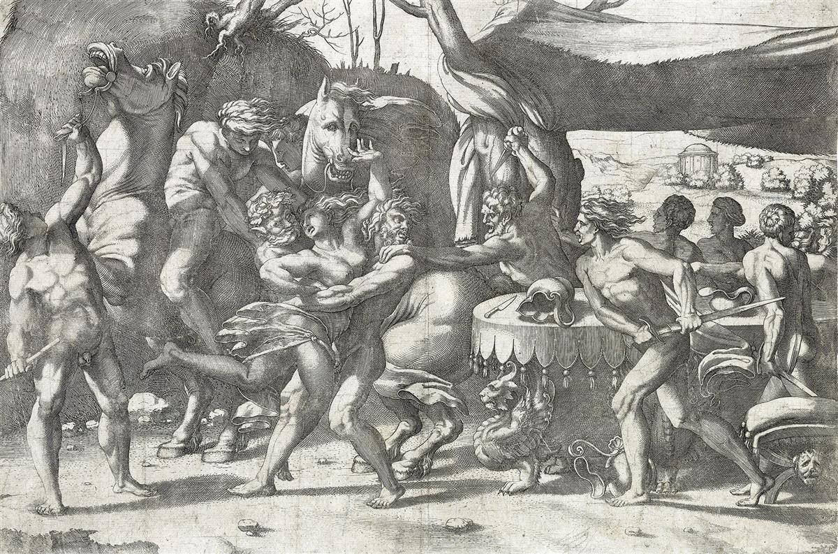 ENEA-VICO-(after-Rosso-Fiorentino)-Battle-of-Lapiths-and-Cen
