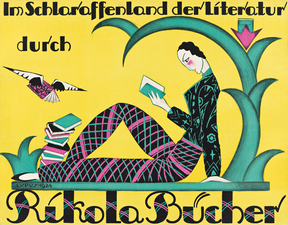 LUPUS (HANS WOLFF, 1892-?).  RIKOLA BÜCHER. 1924. 18½x23½ inches, 47x59½ cm.