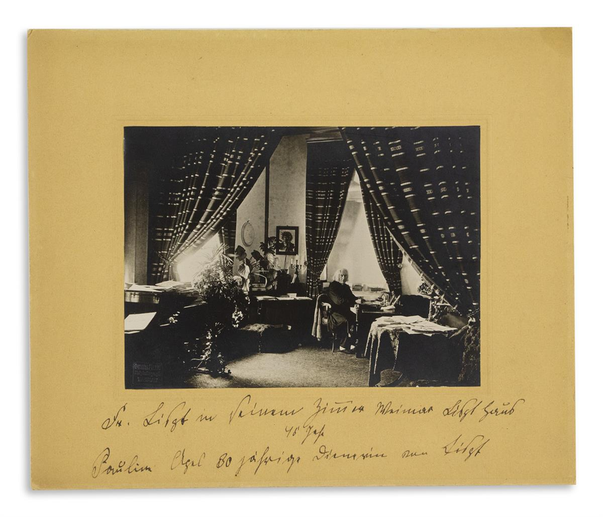 (LISZT-FRANZ)-APEL-PAULINE-Photograph-Signed-and-Inscribed-F