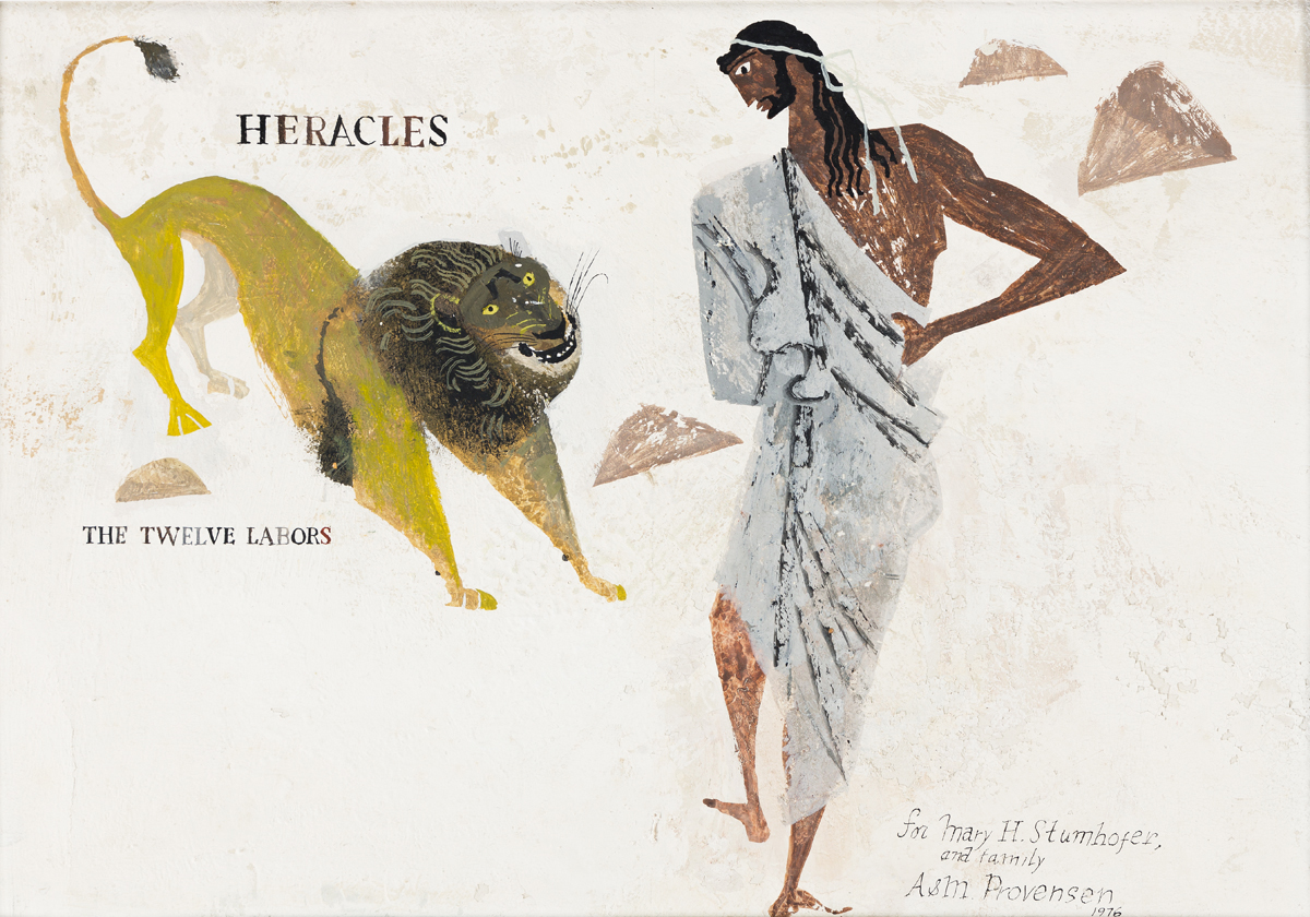 "ALICE (1918-2018) and MARTIN PROVENSEN (1916-1987) ""Heracles-The Twelve Labors."" [CHILDRENS / MYTHS / LEGENDS]"