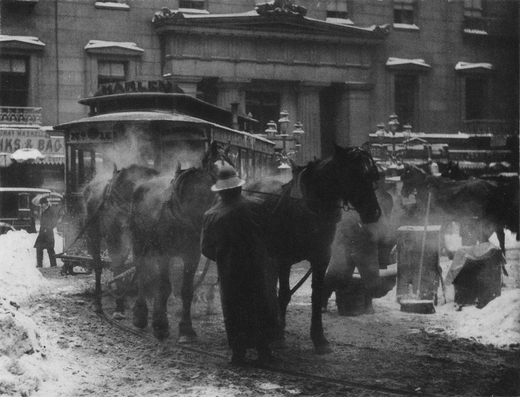 ALFRED-STIEGLITZ-(1864-1946)-The-Terminal--In-the-New-York-Central-Yards--A-Snapshot--Paris-from-Camera-Work-Number-36-and-Number-40