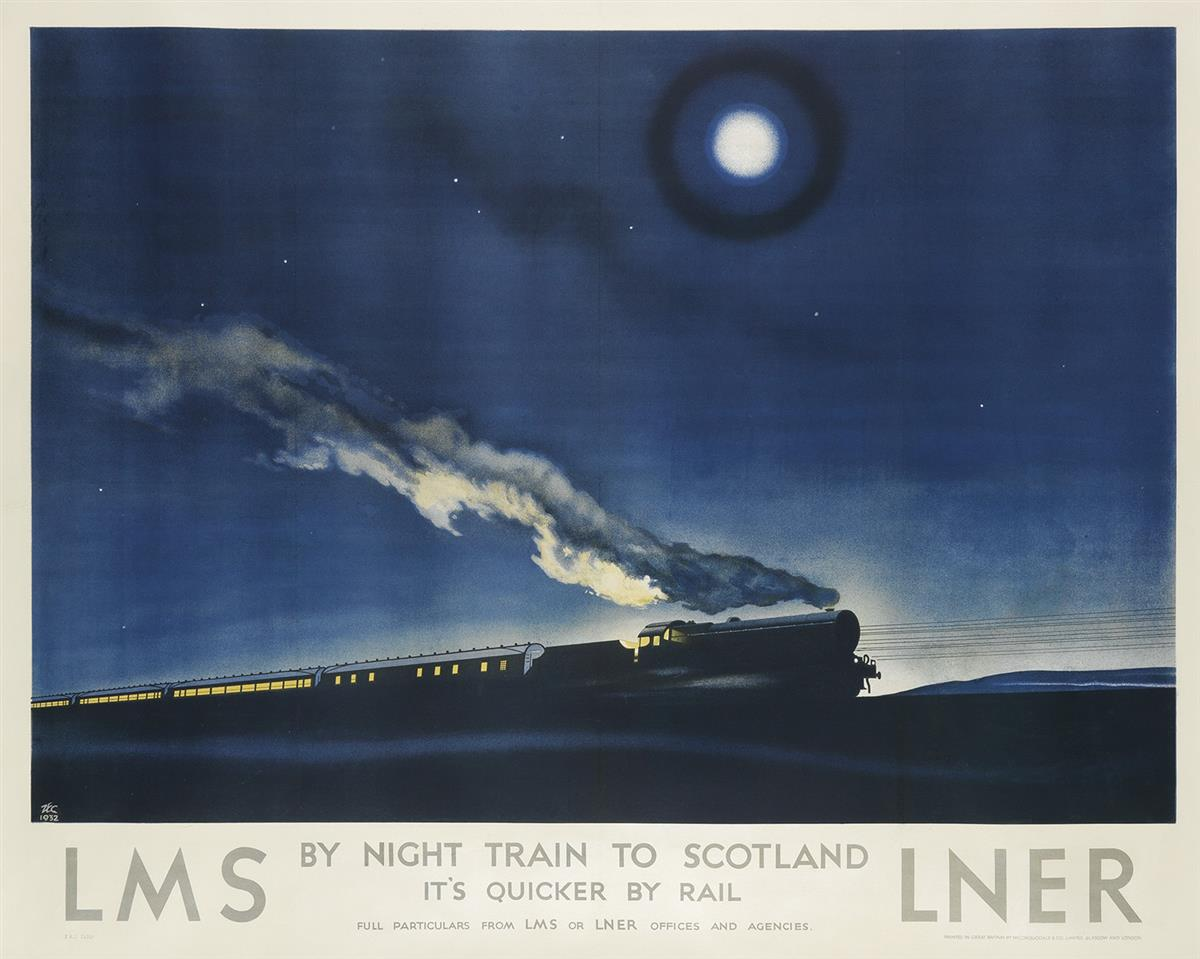 PHILIP-ZEC-(1900-1983)-BY-NIGHT-TRAIN-TO-SCOTLAND--LMS-1932-