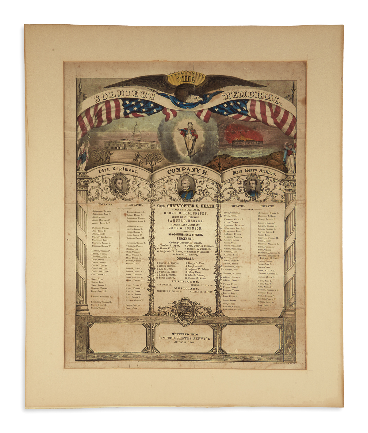 (PRINTS--PRESIDENTIAL)-Group-of-4-large-prints-from-Lincolns