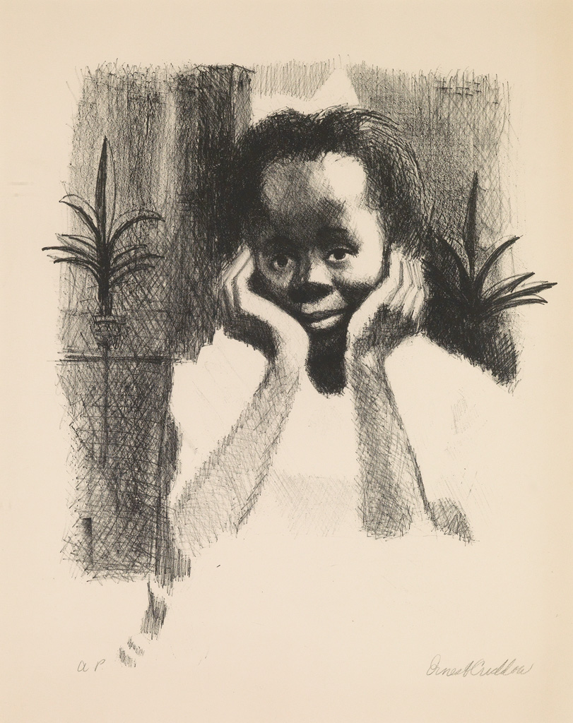 ERNEST CRICHLOW (1914 - 2005) (Untitled) Young Girl.
