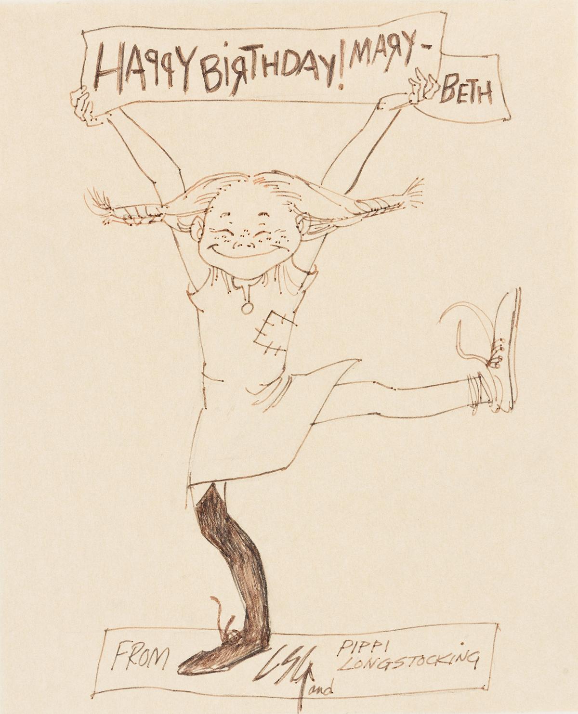 LOUIS S. GLANZMAN (1922-2013) Pippi Longstocking. [CHILDRENS]