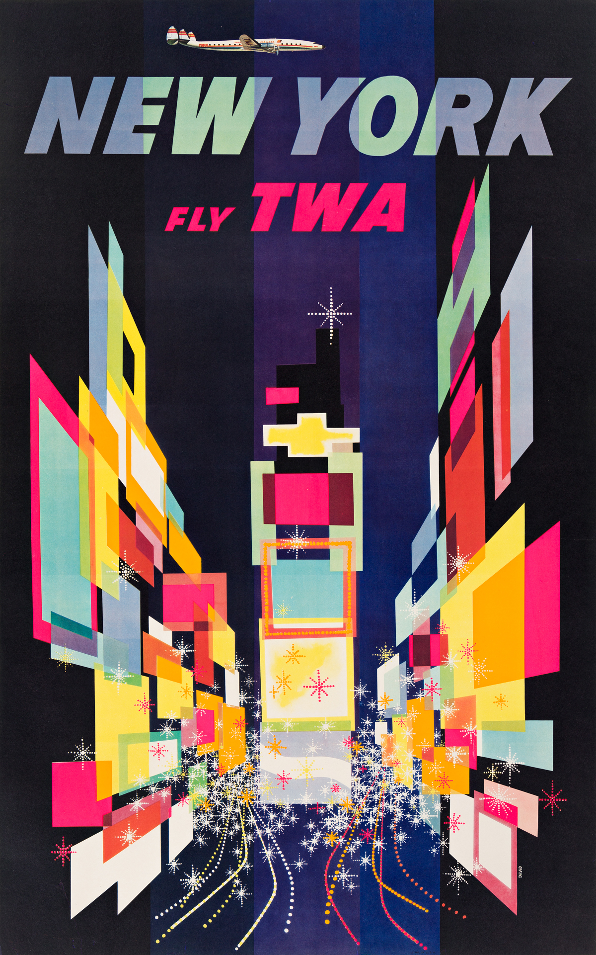 David Klein (1918-2005).  NEW YORK / FLY TWA. 1956.