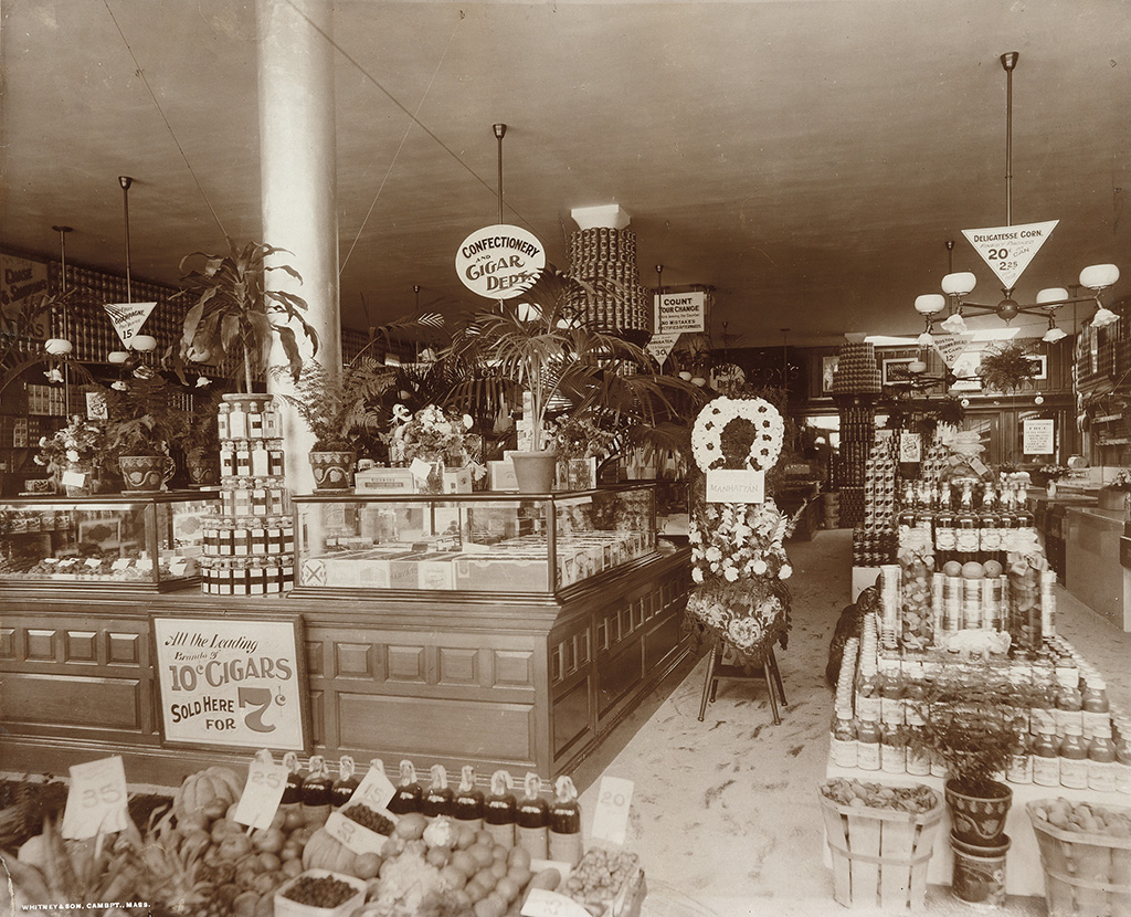 WHITNEY & SON (active 1868-1917) Grocery store.
