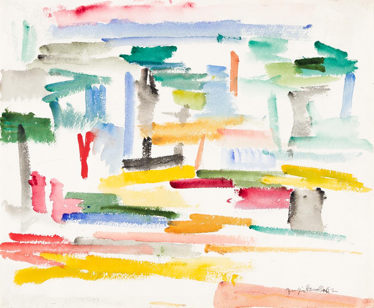 GIORGIO CAVALLON (1904 - 1989, AMERICAN) Untitled, #1/87