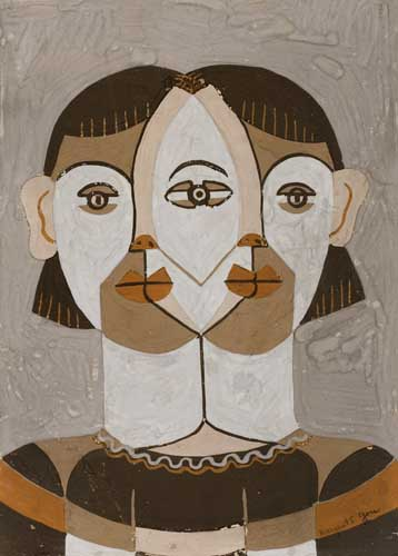 MARGARET-BURROUGHS-(1917---)-Untitled-(Abstract-Head)