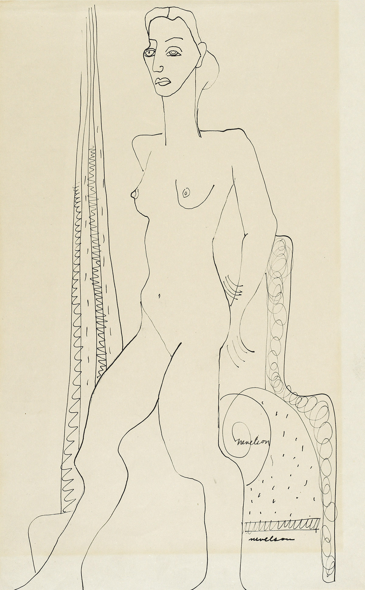 LOUISE-NEVELSON-Standing-Nude