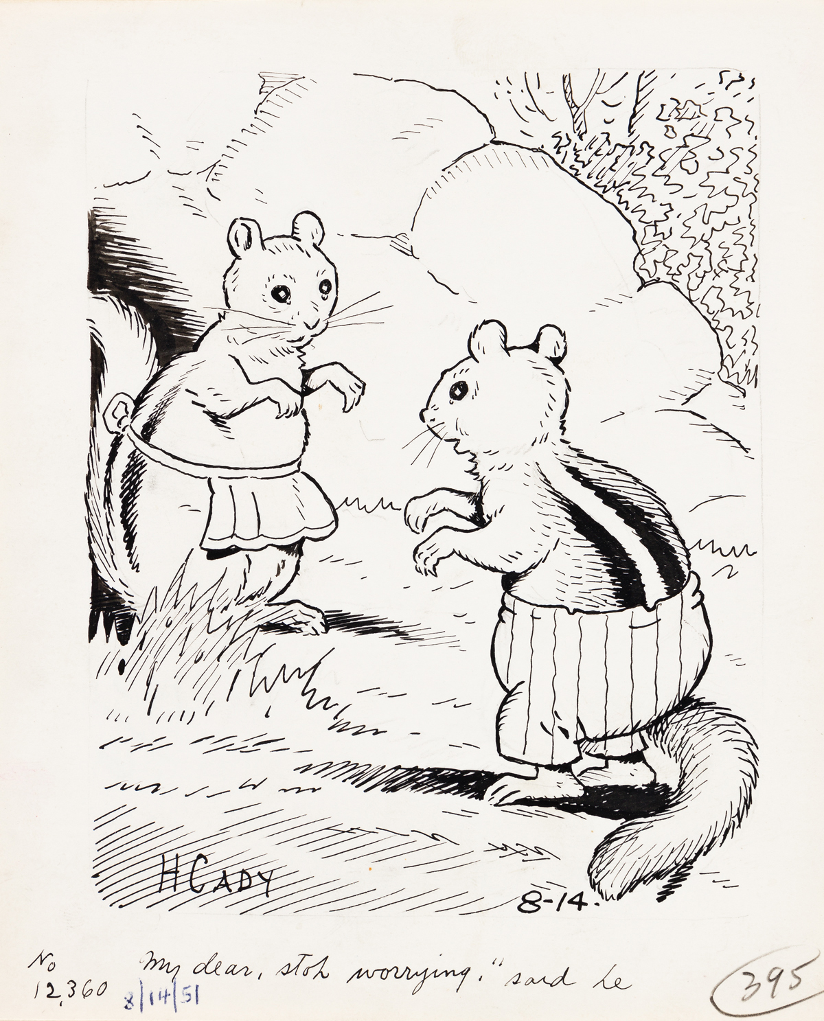 HARRISON CADY (1877-1970) Nature Stories. Group of 7 illustrations. [CHILDRENS]