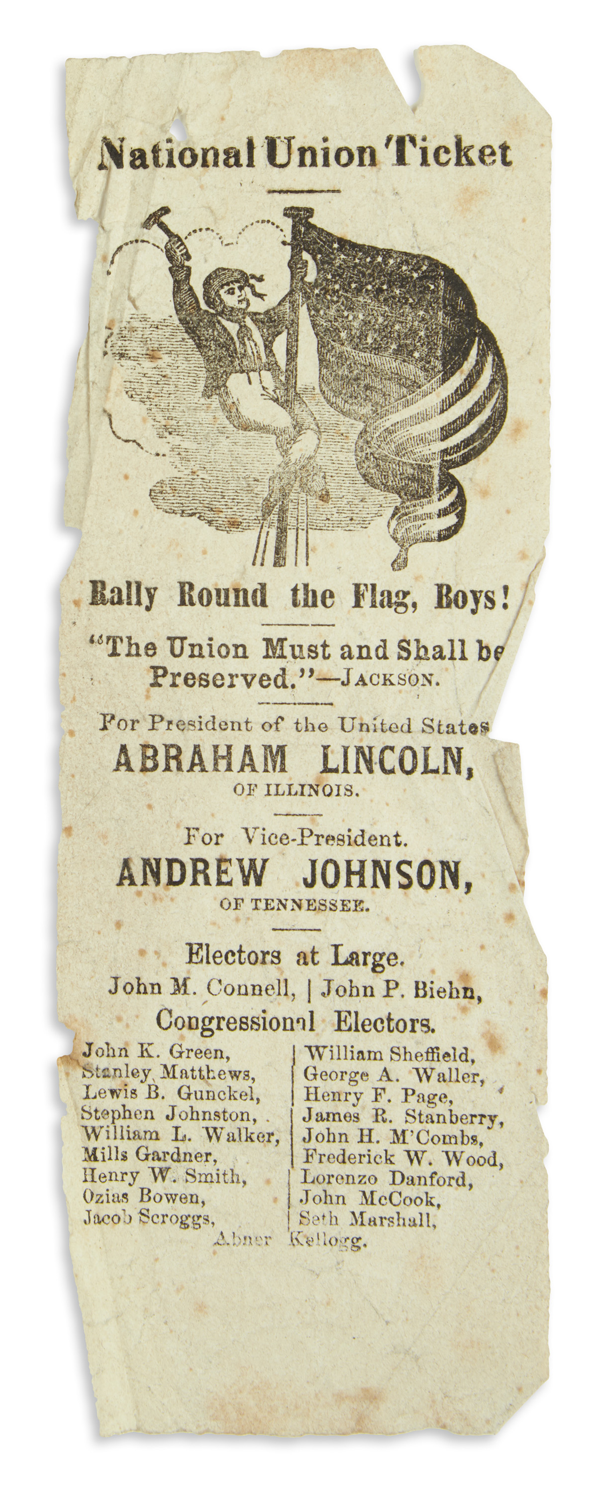 (PRESIDENTS--1860-CAMPAIGN)-Collection-of-Ohio-election-ball