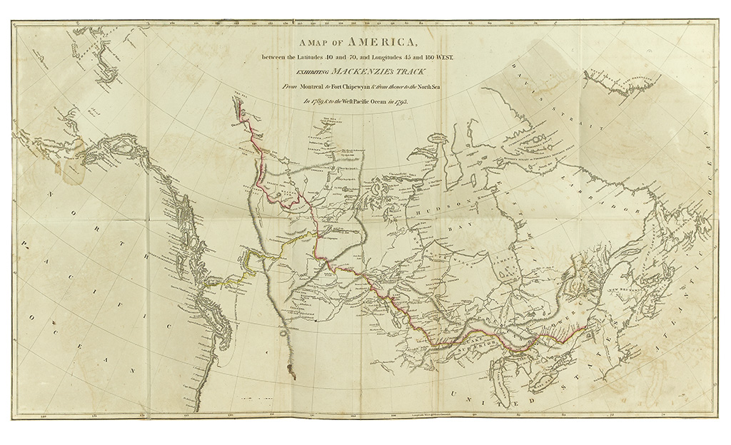 (ARCTIC.) Mackenzie, Alexander. Voyages from Montreal, on the River St. Laurence,