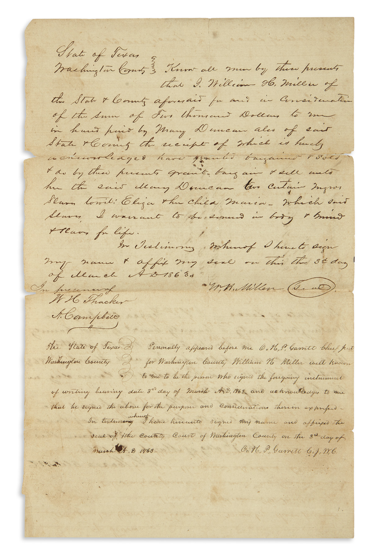 (SLAVERY-AND-ABOLITION)-Group-of-receipts-for-slaves-bought-