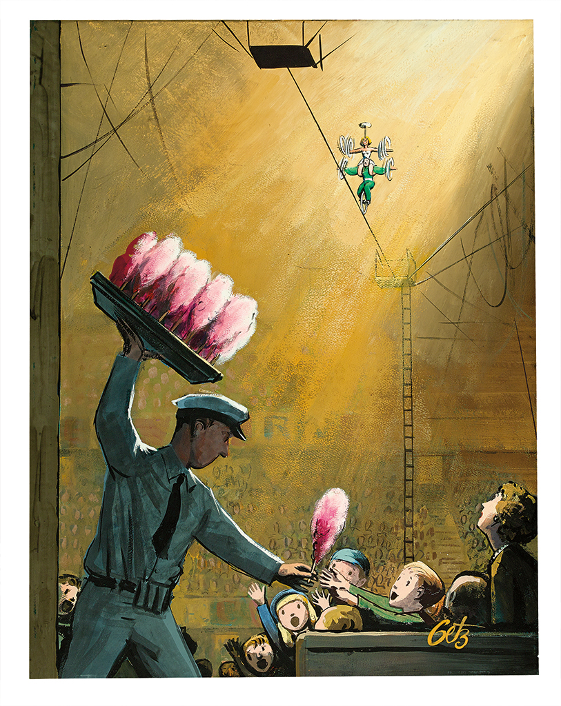 (THE NEW YORKER.) ARTHUR GETZ. Cotton Candy at the Circus.