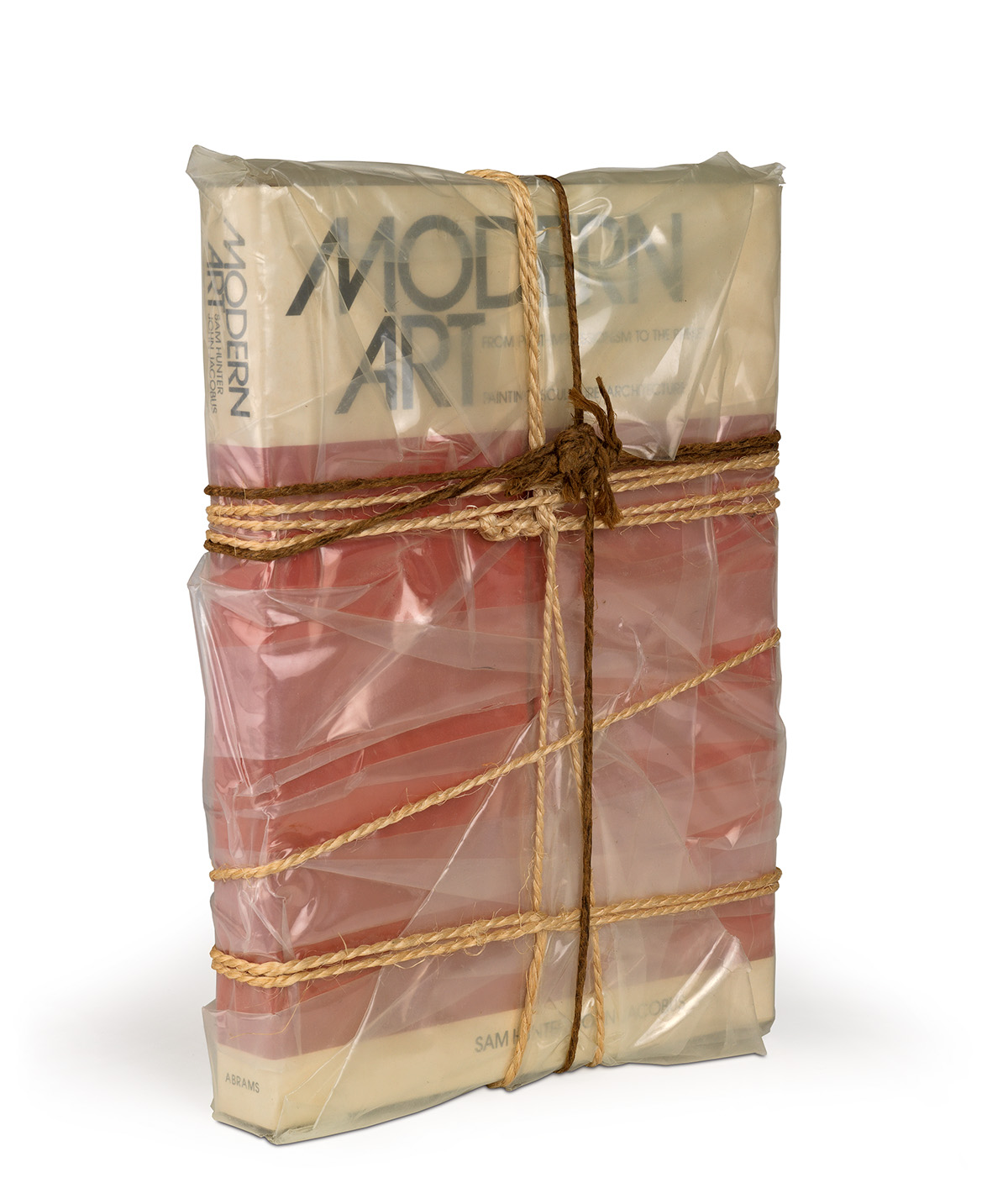 CHRISTO Wrapped Book Modern Art.