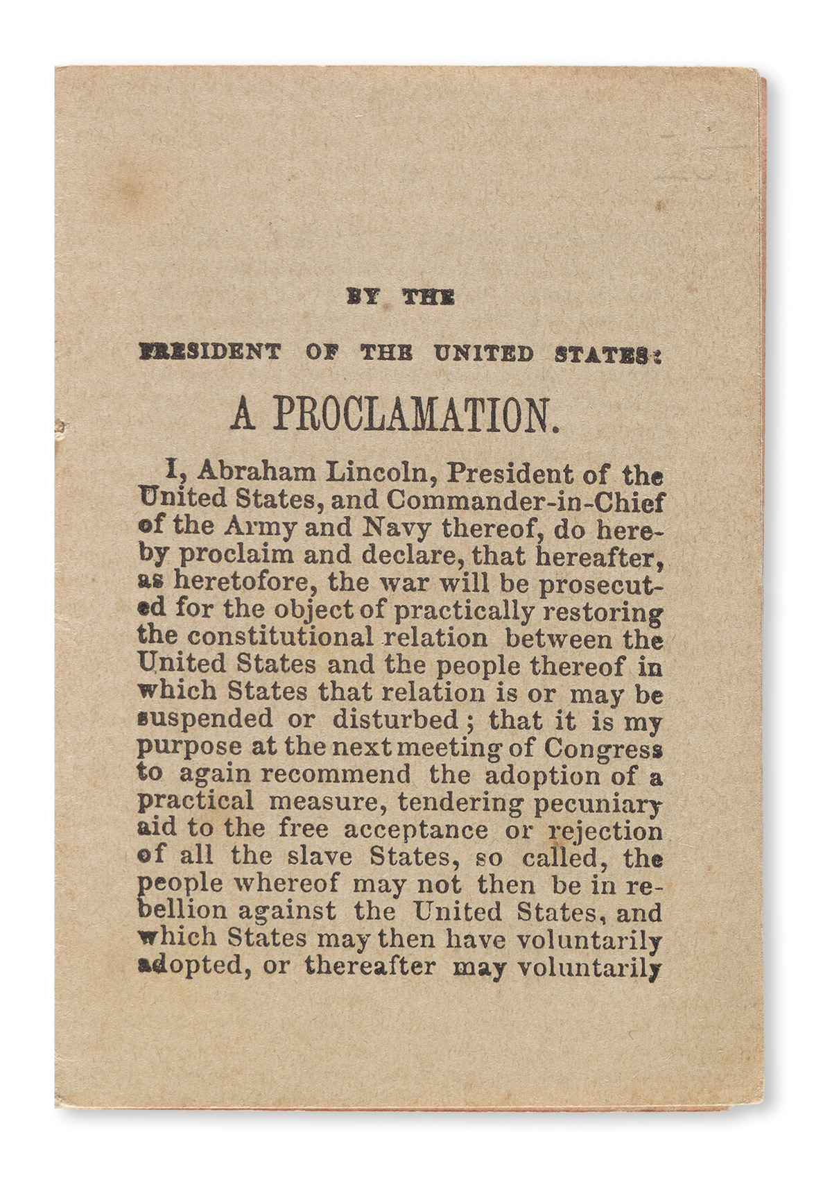 (SLAVERY-AND-ABOLITION)-Lincoln-Abraham-The-Proclamation-of-