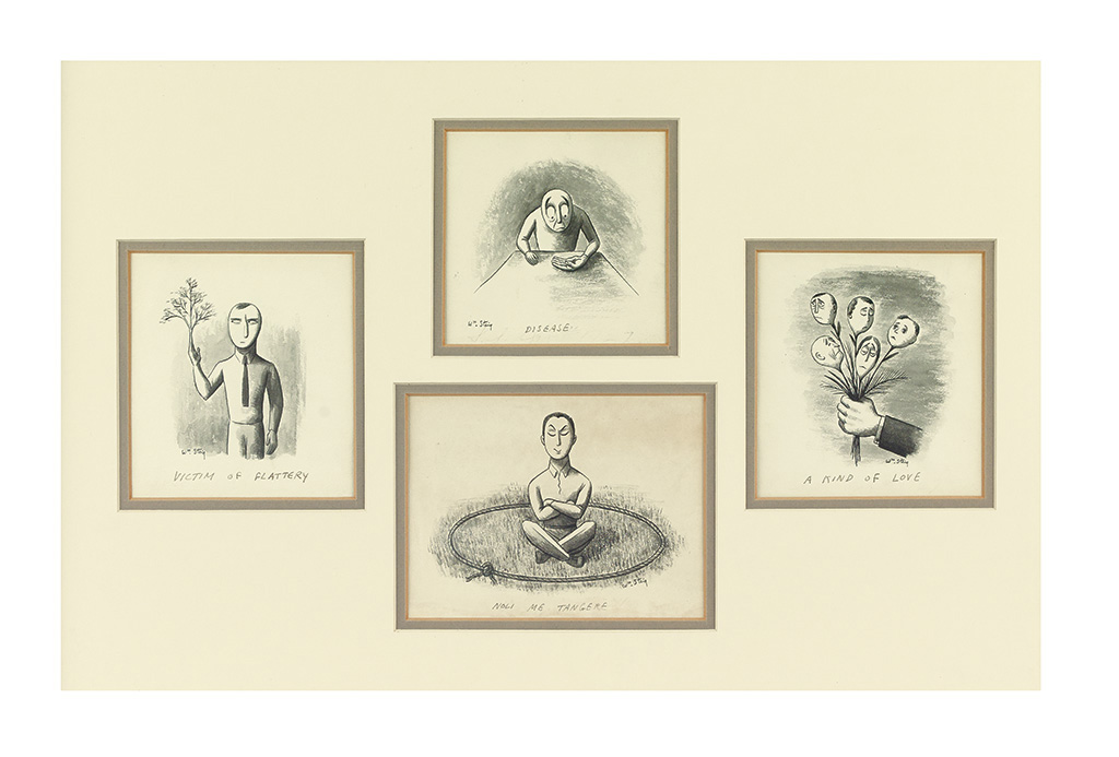 (CARTOONS.)  WILLIAM STEIG. 4 drawings.