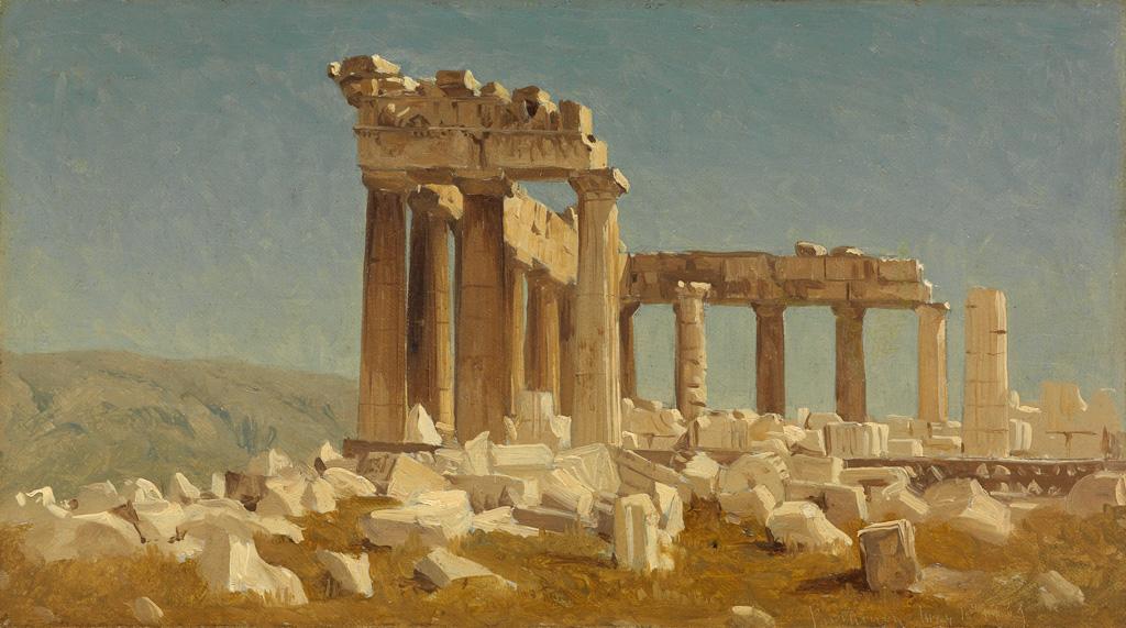 SANFORD-ROBINSON-GIFFORD-Study-of-the-Parthenon