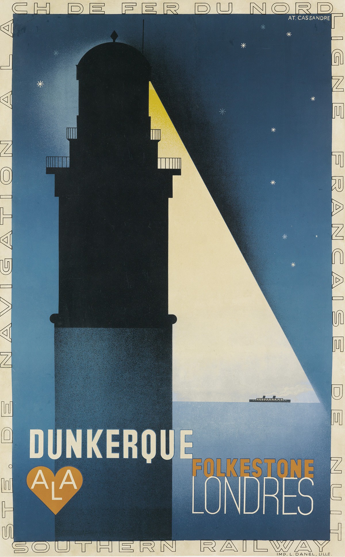 ADOLPHE-MOURON-CASSANDRE-(1901-1968)-DUNKERQUE-1932-38x24-in