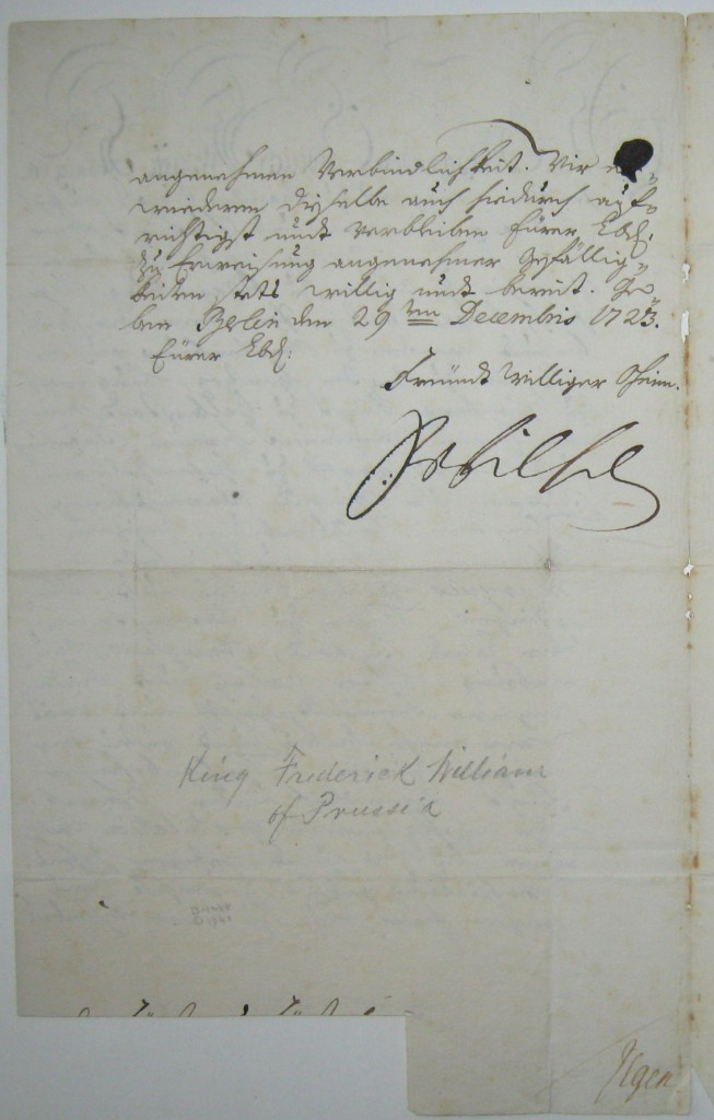 FRIEDRICH-WILHELM-I-Letter-Signed-FrWilhelm-to-an-unknown-re