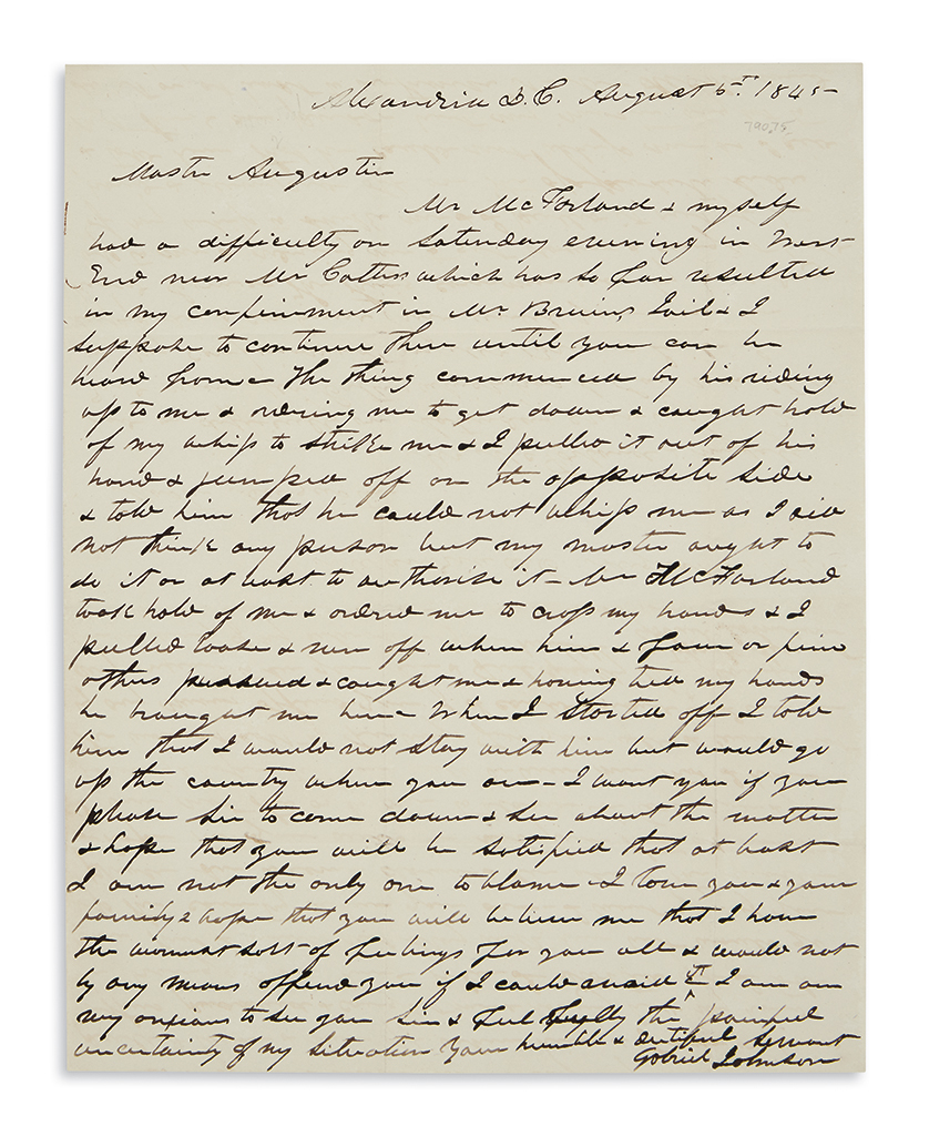 (SLAVERY-AND-ABOLITION)-Letters-on-Gabriel-Johnson-an-enslav
