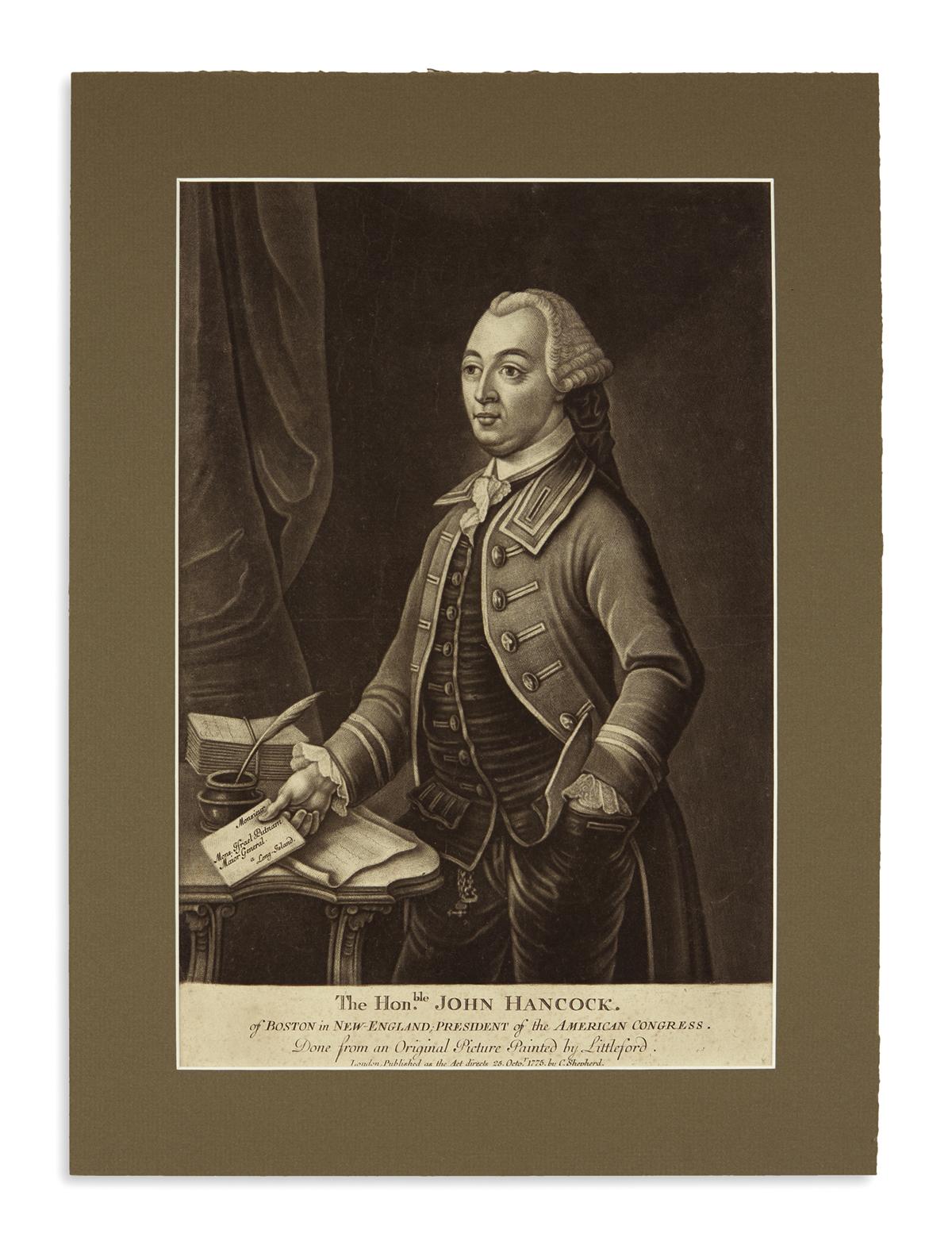(AMERICAN-REVOLUTION--1775)-The-Honble-John-Hancock-of-Bosto