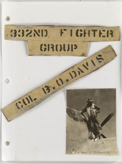 (MILITARY--TUSKEGEE AIRMEN.) 332nd Fighter Group. Col. B.O. Davis. Album of photographs from the Tuskegee Airmen based in Italy.