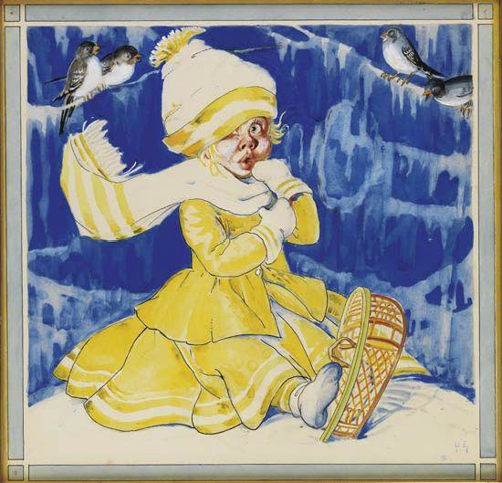 "BERTA HADER. Illustration from """"The Big Snow."""""