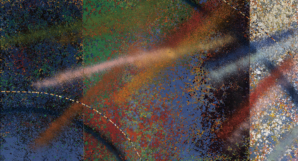 ALVIN D. LOVING, JR. (1935 - 2005) Untitled (Abstract Triptych).