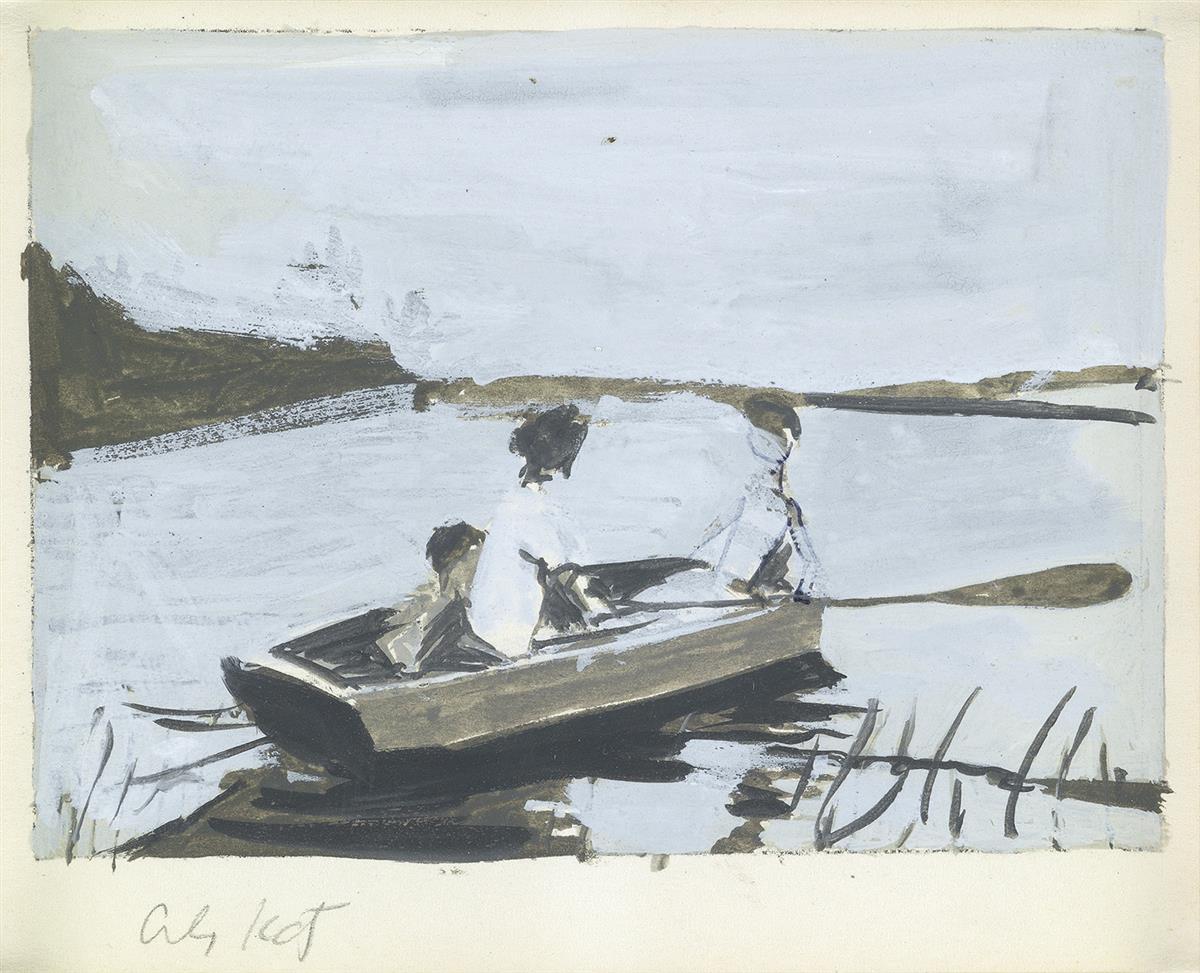 ALEX KATZ Figures in a Rowboat.