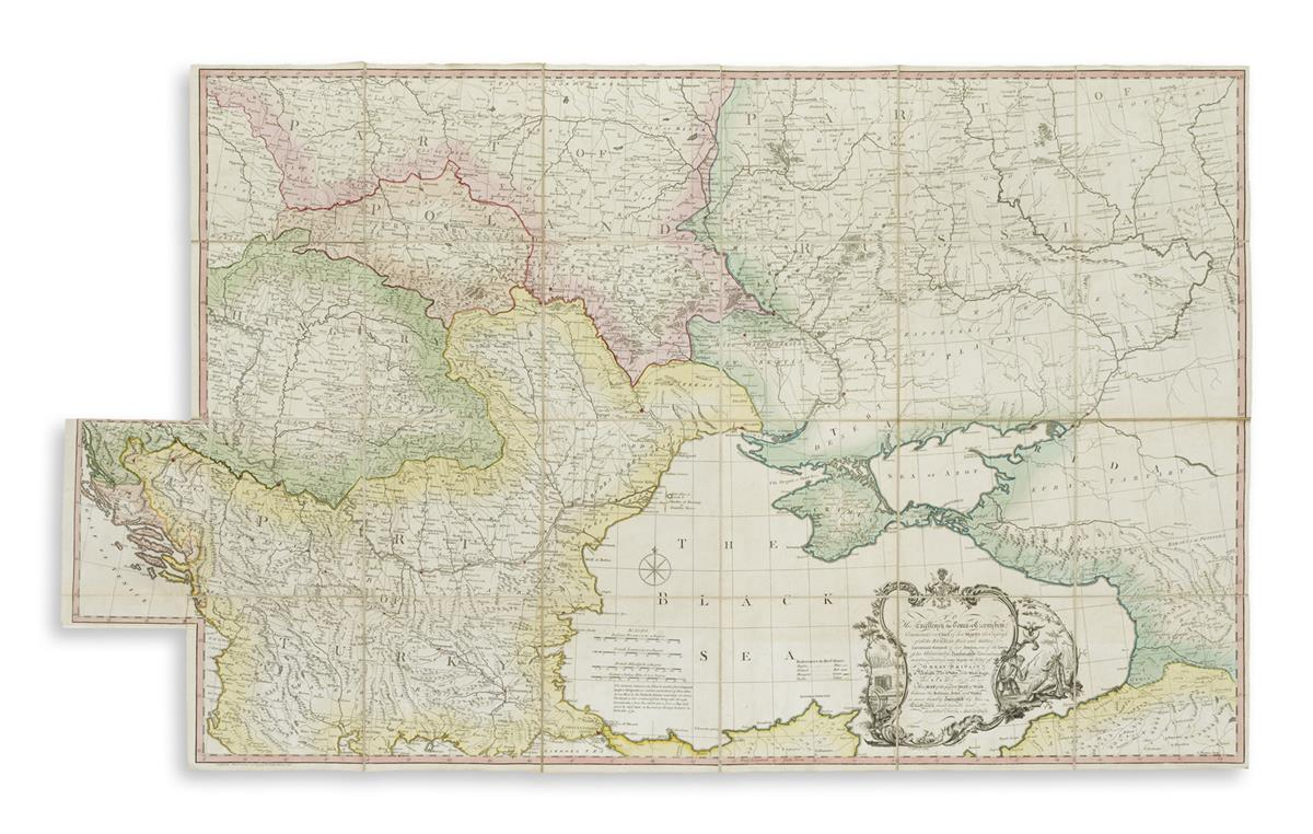 DURY, ANDREW. ...Map of the Present Seat of War Between the Russians, Poles, and Turks... 2nd edition.