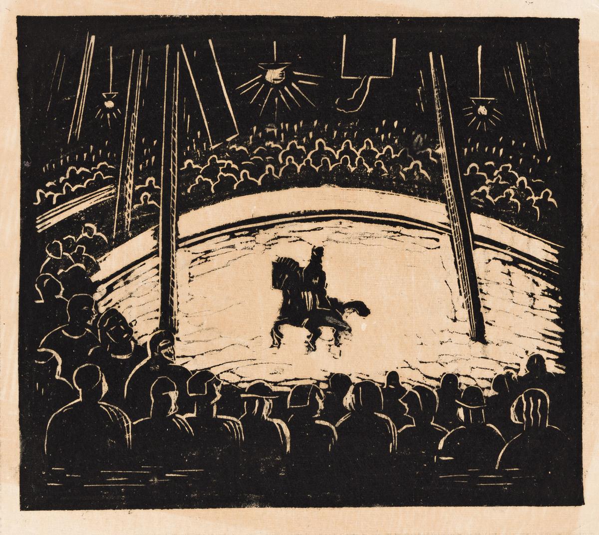 JAMES LESESNE WELLS (1902 - 1992) Circus.