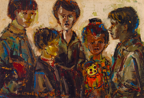 ALVIN CARL HOLLINGSWORTH (1928 - 2000) Untitled (Group of Children).