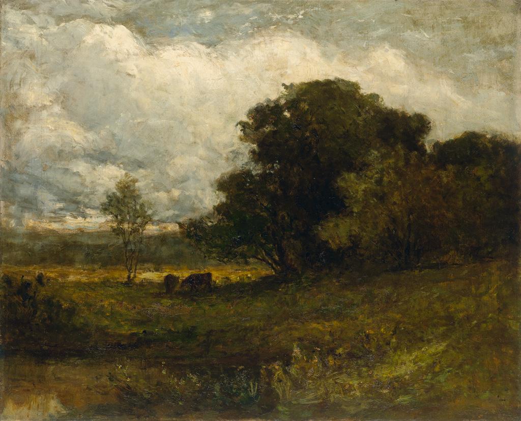 EDWARD-M-BANNISTER-(1828---1901)-Untitled-(Rhode-Island-Land