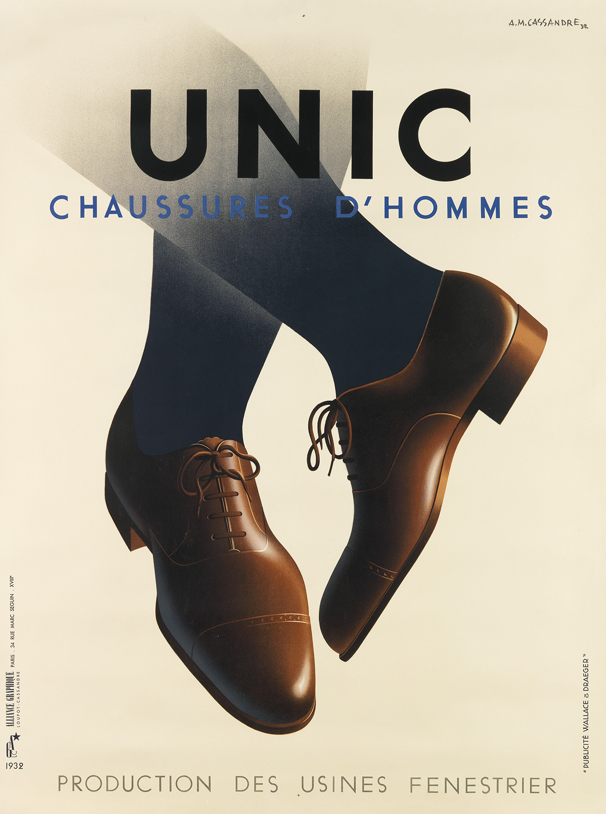 ADOLPHE-MOURON-CASSANDRE-(1901-1968)-UNIC-1932-63x47-inches-