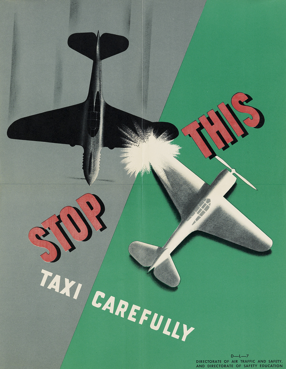 DESIGNER-UNKNOWN-[AIR-TRAFFIC-AND-SAFETY]-Group-of-8-posters