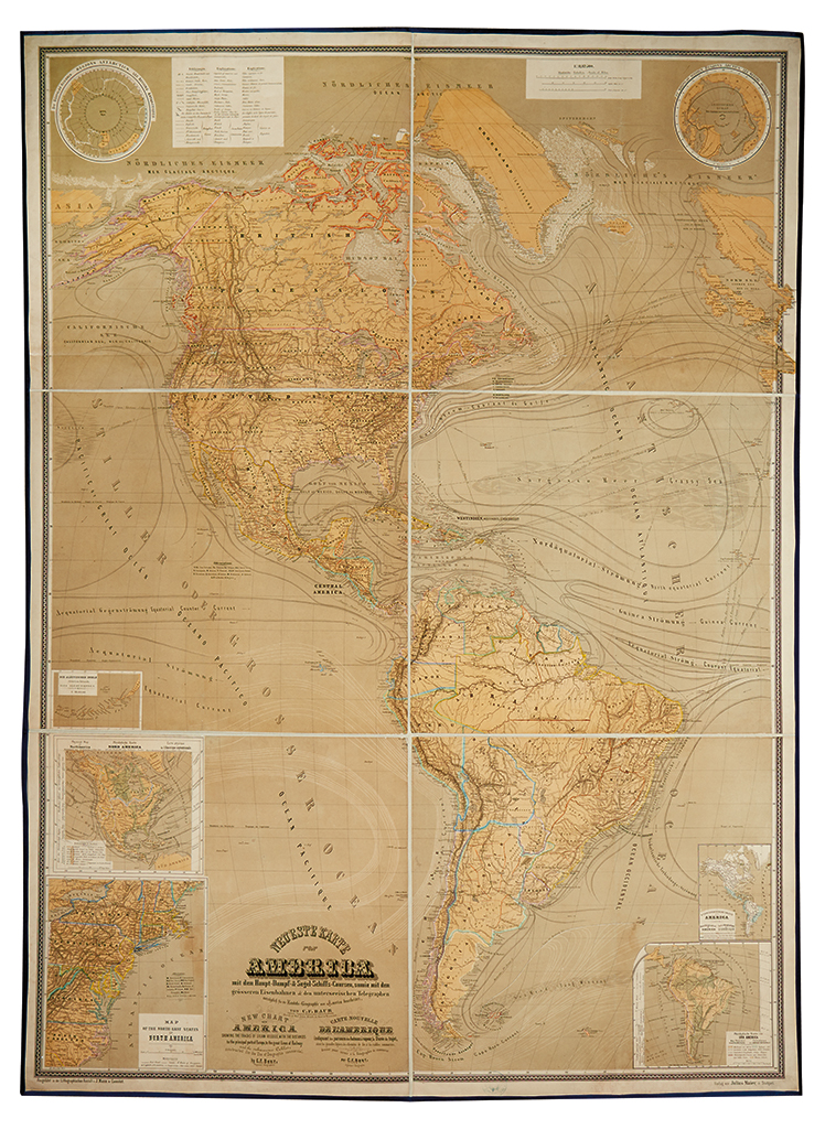 BAUR, C. F. Neueste Karte von America. . .
