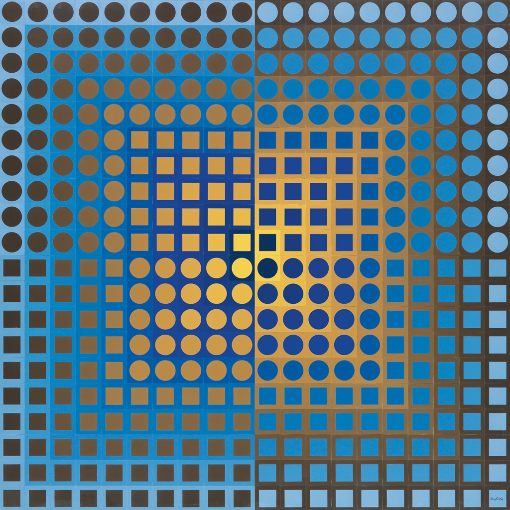 VICTOR VASARELY Zoeld (Blue/Yellow).