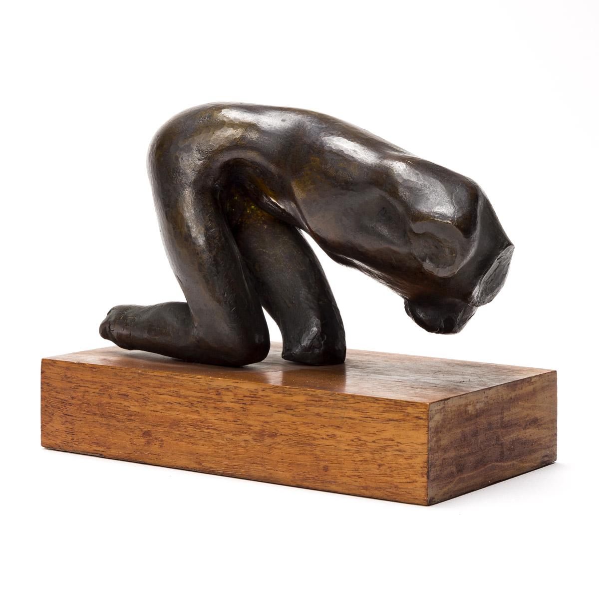 SAUL BAIZERMAN (1889-1957) Two bronze sculptures.